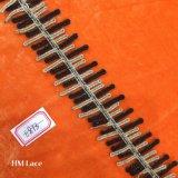 oro di 4.5cm e riga nera nastro del merletto, merletto decorativo Hme873 della banda della guarnizione del tovagliolo del blu marino