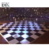 Plancher de danse en bois pour mariage avec le blanc et couleur noire