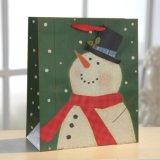 크리스마스 광택 있는 박판 눈사람 덧나막신 선물 종이 봉지