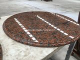 화강암 다른 가장자리 단면도를 가진 돌 원탁 상단
