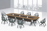 メラミンによって薄板にされるMDFの学校オフィスの会議のトレーニングの折りたたみ式テーブル(HX-FD038)