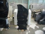Pietra tombale nera naturale del monumento di alta qualità da vendere