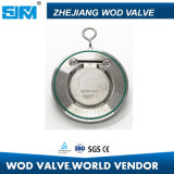 Sola válvula de verificación de la oblea del estruendo del acero inoxidable del disco