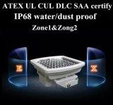 LEIDENE van Atex UL 80W Explosiebestendige Vloed Lichte IP68 die 5 LEIDENE van de Garantie van de Jaar Explosiebestendige Verlichting schatten