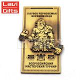 Vecchia medaglia lottante del premio di sport del metallo su ordinazione all'ingrosso con il nastro