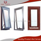 Ventana de aluminio del metal del vidrio de ventana del toldo del perfil de la mirada de madera