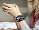 Band van het Horloge van het Leer van de douane de Met de hand gemaakte Echte voor Band van het Horloge van de Appel 38mm 42mm