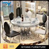 一定の円卓会議のガラスダイニングテーブルを食事するホーム家具