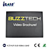 LCD VideoKaart van de Groet Kaart TFT van de Bedrijfs van de Gift de Video, LEIDENE VideoKaart