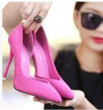 Оптовая торговля указал велюр высокого каблука женщин одной обувь