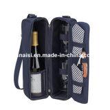 Saco do vinho de Champagne para o presente com as cintas de ombro do suporte de copo