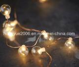 Perla bola de luz LED String decoración exterior de vacaciones coloridas Luces de Navidad