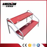 アルミニウム折るコーラスは梯子の調節可能な販売の高さによって使用される段階の部品を立てる