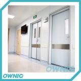 Porta de balanço da base da divisão para o hospital