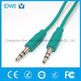 Slanke 3.5mm tot 3.5mm Elastische Audio Groene Kabel