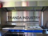 Улица нержавеющей стали Vending мягкая тележка кухни доставки с обслуживанием трейлера вагонетки Drin Kfood
