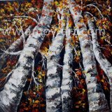 重い質のハンドメイドの赤いシラカバのナイフの油絵
