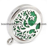 Stainless Steel Aromatherapy Diffuser Locket Charm Pendant