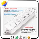 Da segurança inteligente da microplaqueta de 3 portas do USB da tomada 2 tomada elétrica