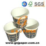 tazza di caffè a parete semplice asportabile della carta patinata del PE 9oz
