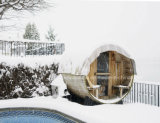 Sauna ao ar livre agradável do tambor da sauna por atacado a preço da fábrica