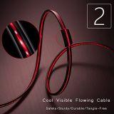 Cable del USB del precio de Factroy de las ventas al por mayor con longitud roja móvil colorida del OEM de la iluminación del LED
