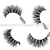 Pestañas falsas hechas a mano de la pestaña del pelo al por mayor del visión