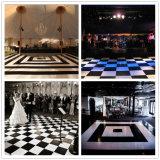 Beweglicher Schwarzweiss-Dance Floor-hölzerner Hochzeits-Tanzboden-Entwurf