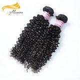 Aliminaの熱い販売のブラジルのRemyのバージンの人間の毛髪のよこ糸