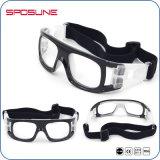 Óculos de proteção azuis transparentes protetores de Vollayball do basquetebol do frame dos vidros de segurança da poeira na moda da prescrição