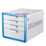 Blaues Metall der Farben-4-Drawers, das Datei-Schrank mit Griff sperrt