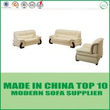 Modernes echtes modernes Hauptmöbel-Bett-Leder-Sofa-Set