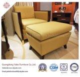 Mobilia graziosa dell'hotel con la poltrona del tessuto e l'ottomano (YB-O-4)