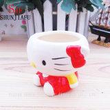 Insignia de encargo de la dimensión de una variable de cerámica de la panda para la taza del pudín de la taza de la crema batida