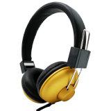 Un ajuste cómodo PU auriculares con cable de Diadema con micrófono para teléfono móvil
