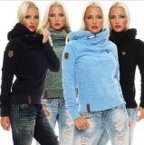 Женщины уже давно Hoodies моды теплыйфлис худи с коротким рукавом
