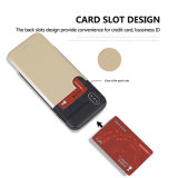 Провод случая TPU+PC телефона бумажника держателя кредитной карточки рисуя трудное iPhone x аргументы за