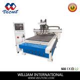 Router automático da madeira do CNC da máquina de gravura do CNC do cambiador do eixo