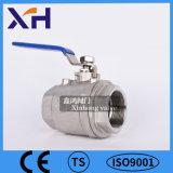 2PC Válvula de bola de acero inoxidable DN65