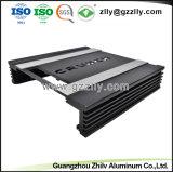 La norme ISO9001 Profil en aluminium sculpté noir en usine avec la norme ISO 9001