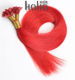 Cabelos humanos brasileiros Red 16 pol de ponta em U queratina Extensão de cabelo