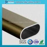 Perfil de aluminio de la protuberancia para la percha colgante del tubo redondo oval del guardarropa