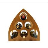 Il vino di legno Rack/6 del triangolo imbottiglia la cremagliera del vino/cremagliera creativa