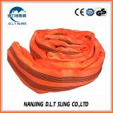 8 tonnellate della tessitura dell'imbracatura rotonda di imbracatura di sollevamento infinita