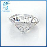 12.0mm 큰 크기 둥근 심혼 및 화살은 Moissanite 백색 다이아몬드의 가까이에 6 캐럿을 삭감했다