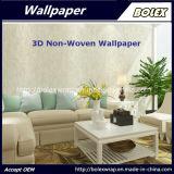 Papel pintado natural del papel pintado no tejido decorativo del papel pintado 3D para la decoración casera los 0.53*10m