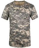Summber shirt col rond T-Shirt à manches courtes camouflage