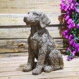 Ausgangs-und Garten-im Freien nette Hundestatue-Dekoration für Verkauf