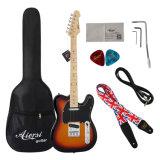 Guitarra eléctrica descontada de la venta al por mayor de las existencias de los productos de la fábrica de Aiersi barato