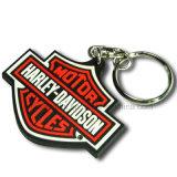 PVC Keychain de borracha do costume 2D/3D com logotipo para relativo à promoção